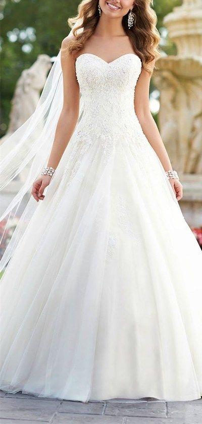 2016 Custom Lace wedding dress,Strapless wedding dress,Sexy backless Wedding Dress,Cute Tulle Wedding Dress