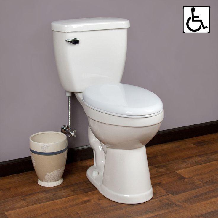 Pellington Two Piece Dual Flush Elongated Toilet Ada