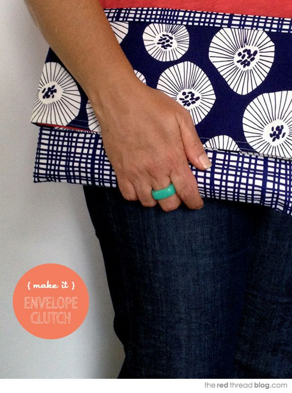 MAKE IT :: Easy Envelope Clutch Purse | The Red Thread