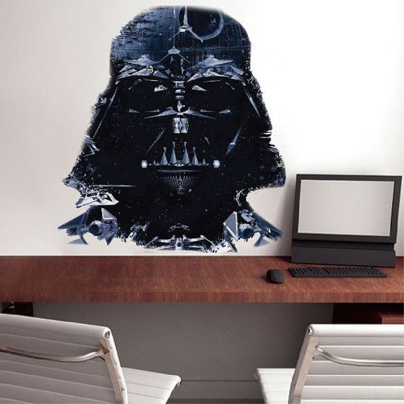 Star wars darth vader wall decal sizes tall x wide in inches 12x11