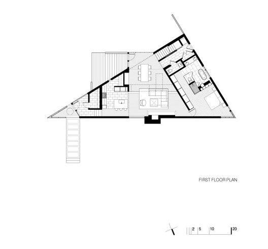 Residência Komai,Planta Baixa - Primeiro Pavimento