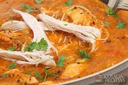 Receita de Sopa creme de frango, queijo e tomate em receitas de sopas e caldos, veja essa e outras receitas aqui!
