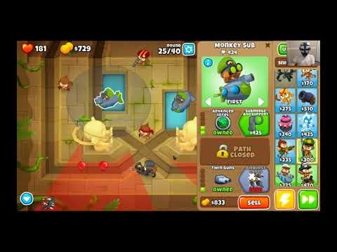 BLOONS TD 6 CHUTES MAP ON EASY  BTD 6 WALKTHROUGH! | BLOONS