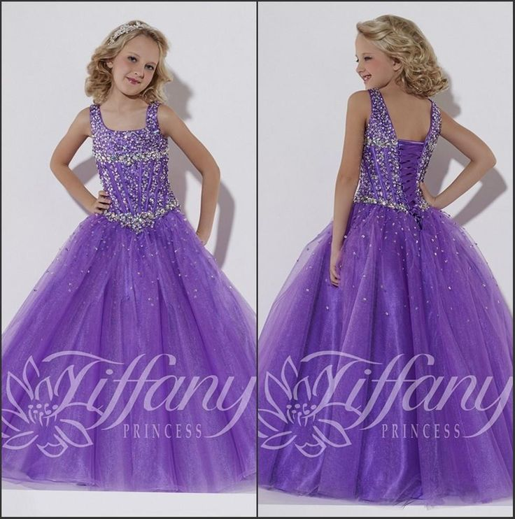 Beauty Pageant Dresses For Girls 2016 New Purple Scoop Neck Organza Girl'S Pageant Dresses Rhinestones Beaded Top A Line Flower Girls Dresses Bo9916 Beauty Pageants Dresses From Enjoyweddinglife, $82.62| Dhgate.Com