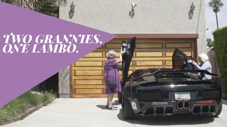 Because why the hell not?!   :-D Two Grannies, One Lamborghini | Donut Media