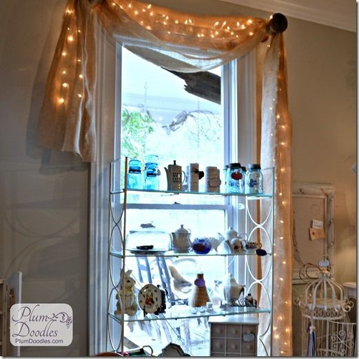 Thrifty Window Treatments And Vintage Spools