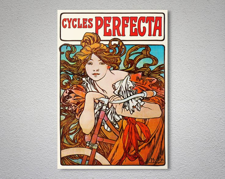 Cycles Perfecta  Poster by Alphonse Mucha