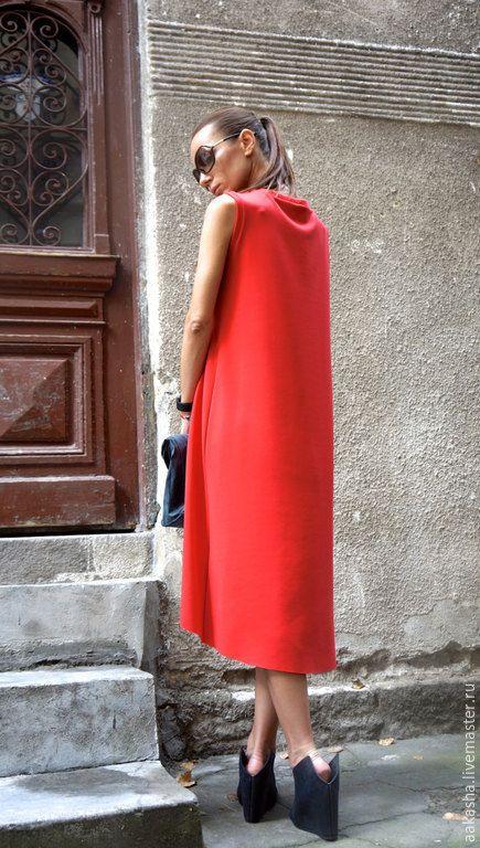 Купить Платье Classiс Coral - ярко-красный, красный, коралловый, платье длинное, стильное платье