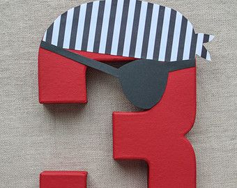Pirate Party Decoration - Pirate Birthday Number or Letter