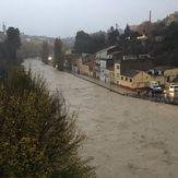 Las fuertes lluvias provocan el desbordamiento de los ríos Segura (Orihuela) Clarià (Ontinyent) y Júcar (Alberic)