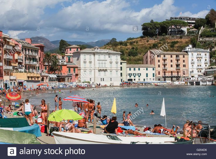 Download this stock image: beach, Sestri Levante, Province Genoa, Riviera di Levante, Liguria, Italy, Europe - G204D6 from Alamy's library of millions of high resolution stock photos, illustrations and vectors.