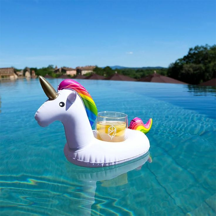 [Visit to Buy] 2017 Newest Summer Unicorn Inflatable Cup Holder Drink Floating  Party Beverage Boats Phone Stand Holder Pool Toys for Weeding #Advertisement