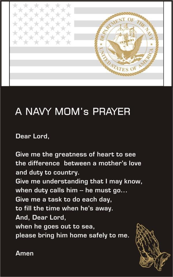 Mom Quotes From Daughter: Navy Mom Prayer