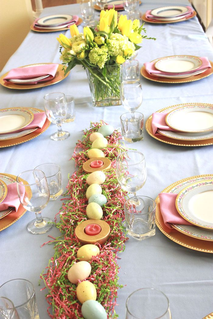 Easter Table Decorations Combine Not Only A Rich Variety Of Dishes, But  Also A Skillful Selection Of Colors And Materials Which Will Help You To  Create The