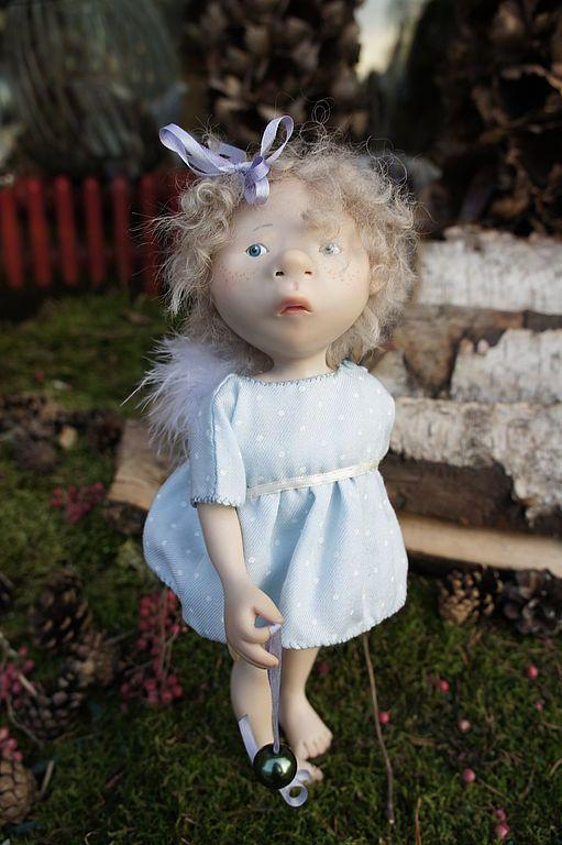 Купить ангел для машки - авторская кукла, авторская игрушка, living doll, натуральный тресс