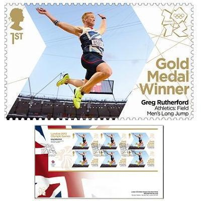 Large image of the Team GB Gold Medal Winner First Day Cover Overseas - Greg Rutherford