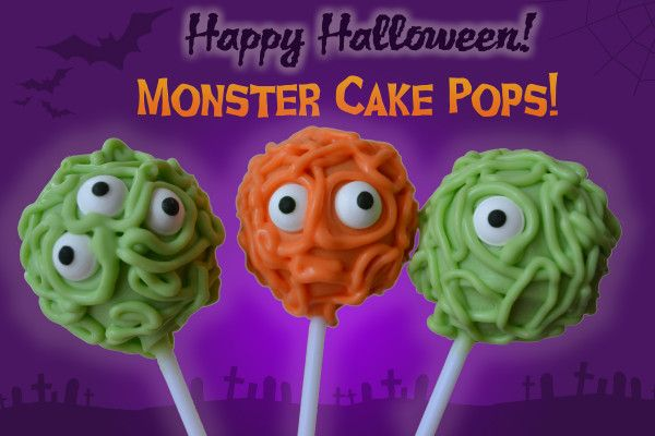 How to make mad little monster cake pops for Halloween!