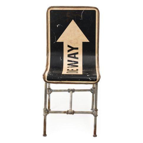 Stuhl One Way, Retro Look, Eisen #miavilla #vintage #shabbychic #industrial