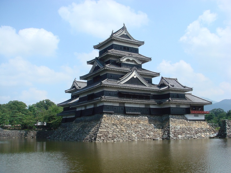 Matsumoto Castle and a moat
