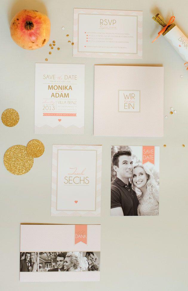 einladungskarte hochzeit, hochzeitskarte chevron, wedding invitation