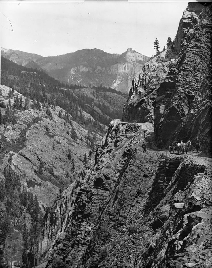 Ouray Toll Road by William Henry Jackson