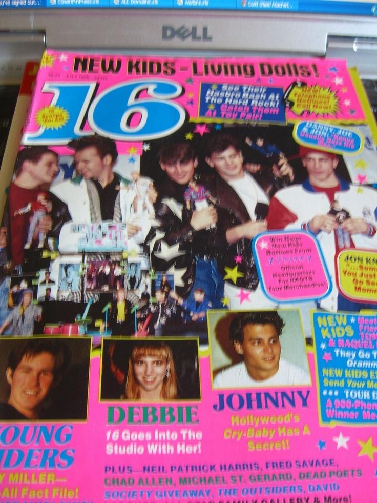 16 Magazine July 1990 Teen Mag New Kids, Johnny Depp, Debbie Gibson | eBay