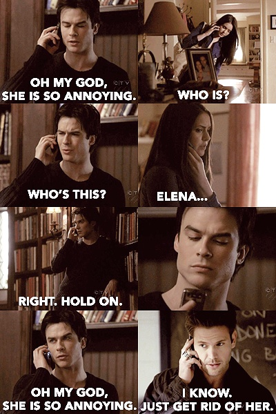 The Vampire Diaries/ Damon Salvatore mixed with Mean Girls while being honest about how annoying Elena is! Love this!!