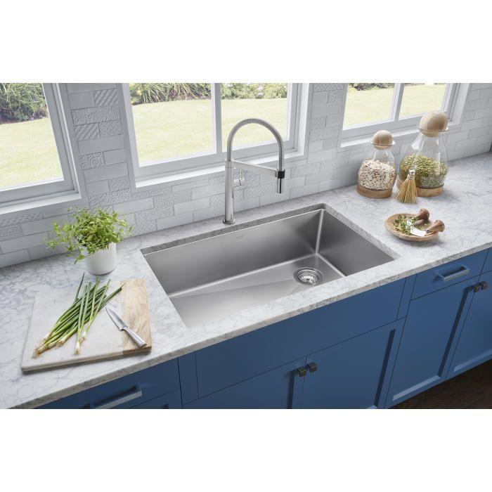 Blanco 524221 Quatrus 33 Kitchen Sink Best Kitchen Sinks Large Kitchen Sinks Steel Kitchen Sink