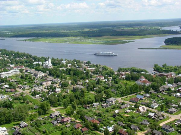 Myshkin, a view from the air