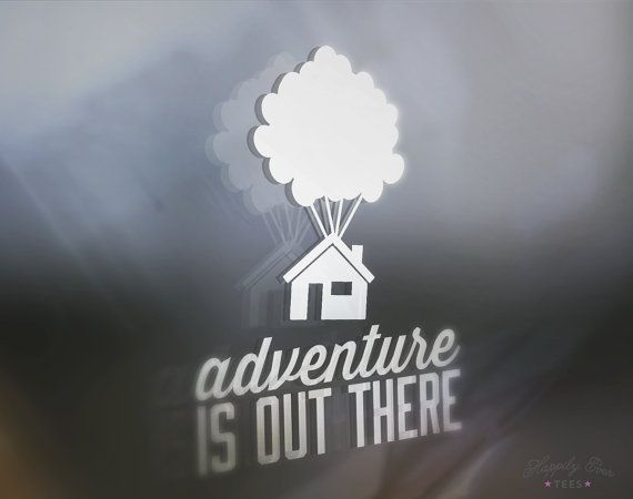 Adventure is Out There, UP Window Decal, Vinyl Decal, Happily Ever Tees, Decal for computer, iPad, laptop, car window, Car Window Decal