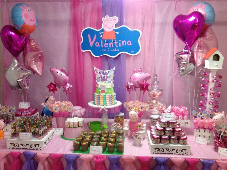 Decoración de Peppa Pig por el cumpleaños #2 de Valentina Hecho por mi Pinterest Peppa pig