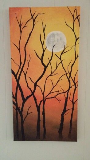 Fall canvas painting