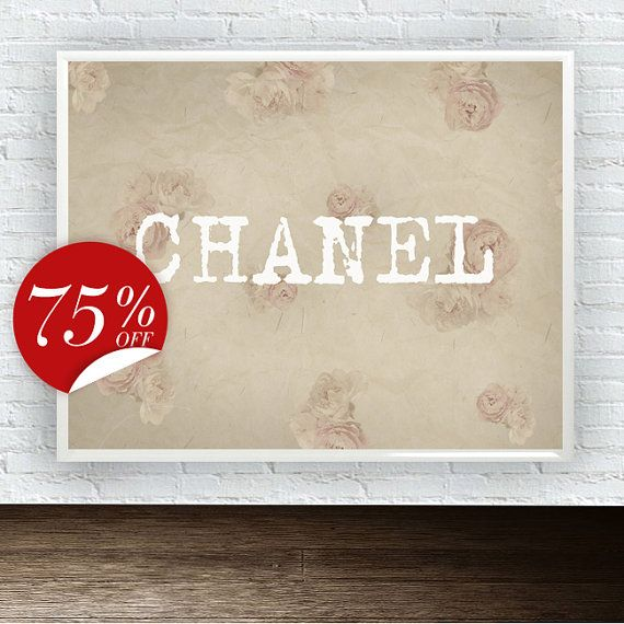 Coco Chanel Decor Coco Chanel Logo Vintage от ArtBoutiqueButterfly