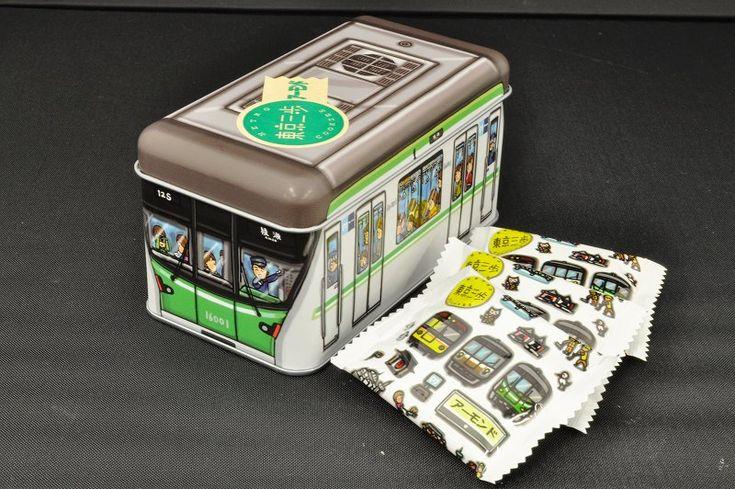東京三歩 電車缶 千代田線16000系(アーモンド) | メトロの缶詰(東京メトログッズ・電車ケーキ・鉄道グッズ通販サイト)