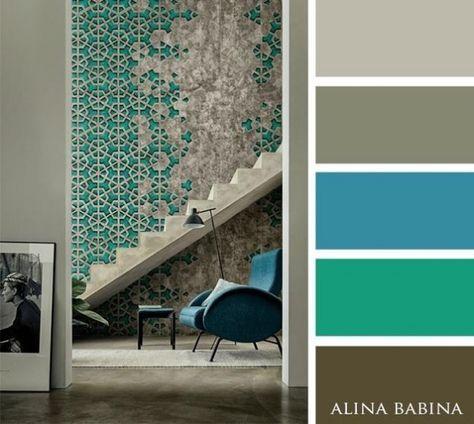 17 mejores ideas sobre combinaciones de colores interiores - Colores de pinturas para interiores ...