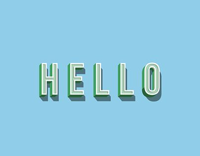"Check out new work on my @Behance portfolio: ""Oh Hello!"" http://be.net/gallery/59742211/Oh-Hello"