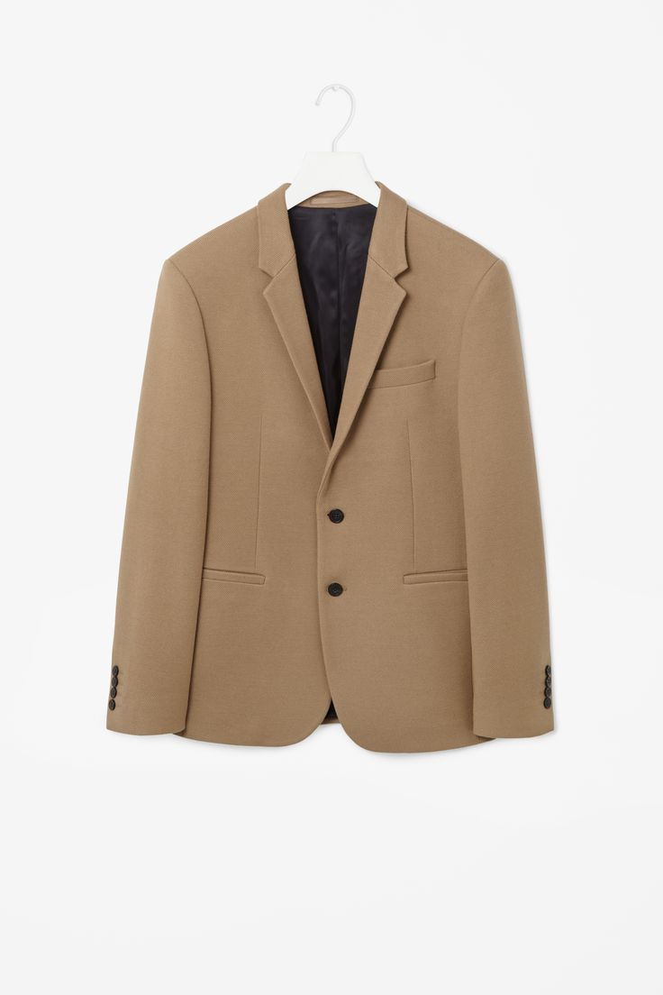 Wool and cotton blazer