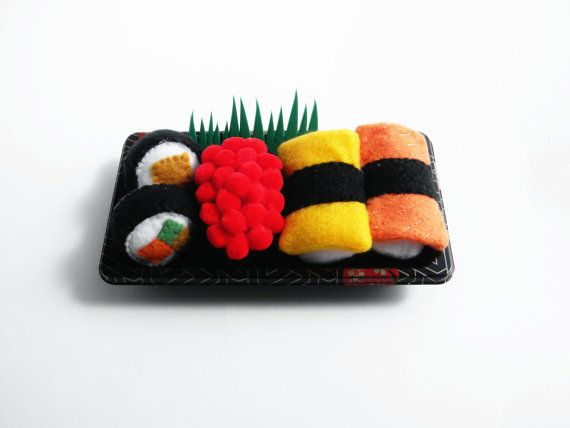Play Felt Food Sushi Take Out by thatgirl99 on Etsy