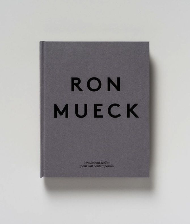 a comprehensive monograph documenting ron mueck's entire career, w/ essays from art critics robert storr & justin paton, previously unpublished material & studio photographs by gautier deblonde. book design by atelier dyakova, 2013.