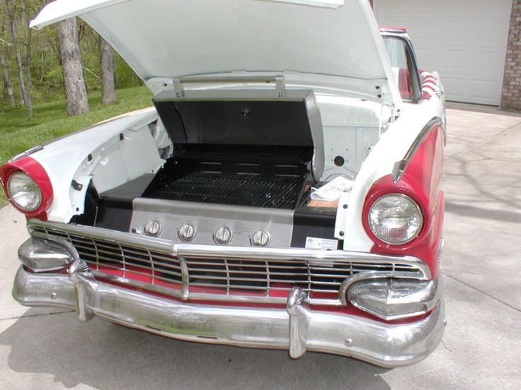 1956 Ford convertible becomes bbq grill & diner - pic 2 of 3