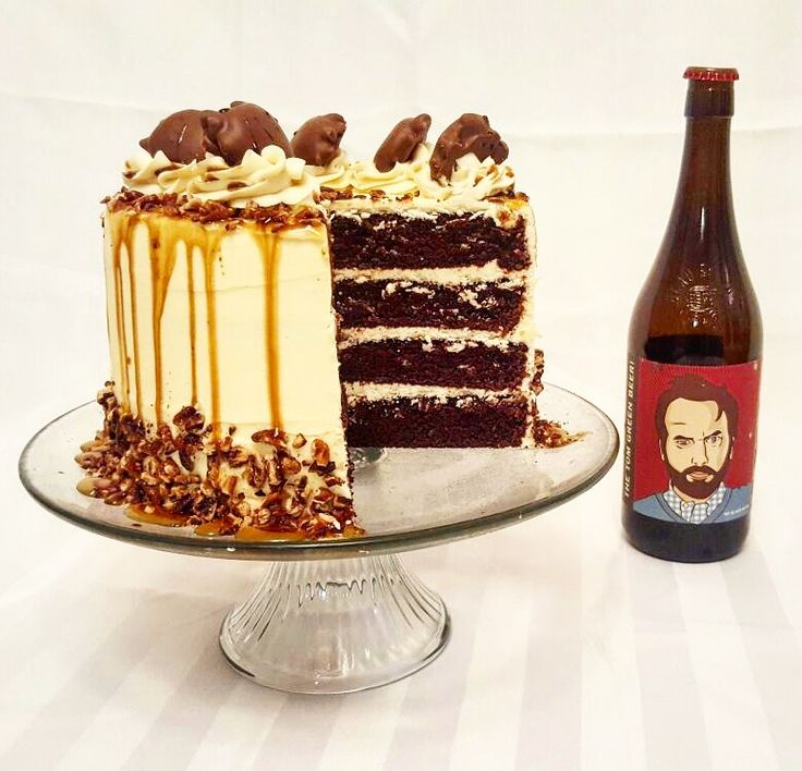 The Tom Green Beer! cake is here. Thank you to Beau's fan Tiffany Grossauer for sharing this recipe. The Tom Green Beer! milk stout perfectly compliments the dark chocolate cake. Paired with caramel frosting and toasted pecans then drizzled with a delicious beer syrup. Ingredients: For the cake 1 1/2 cups flour 3/4 cups unsweetened cocoa 1 1/2 cups sugar 1...