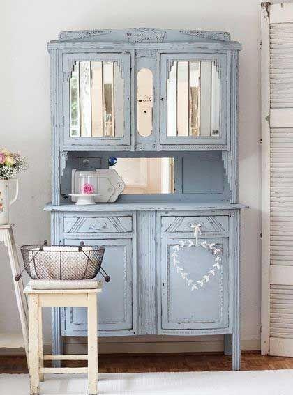 Powder blue hutch