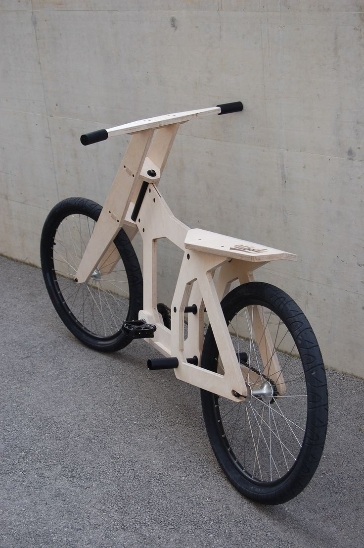 Bicycle made of wood