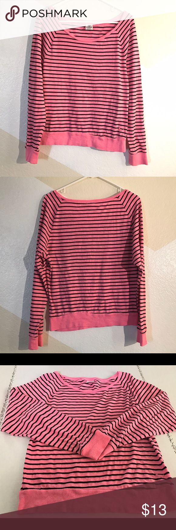 Victoria's Secret PINK Long Sleeve Top Size S Pre-owned excellent condition Victoria's Secret PINK striped long sleeve top. Size S. ❌trades❌ please don't ask. All reasonable offers will be considered. PINK Victoria's Secret Tops