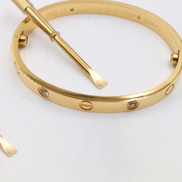 اسواره كارتير بمفك زركون ستنلس ستيل موقع جويل Love Bracelets Cartier Love Bracelet Gold Bracelet