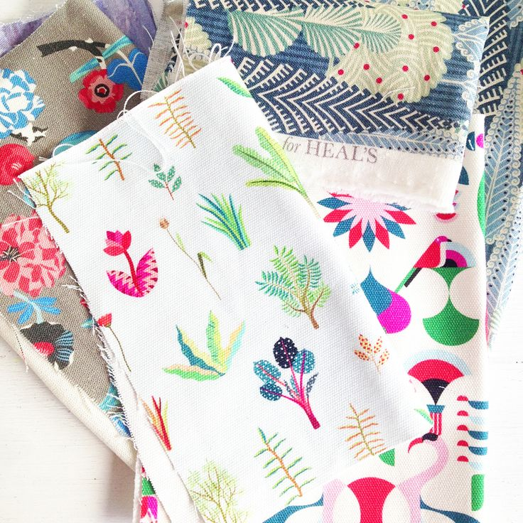 Craft ideas using Heal's Fabric by Emily Quinton