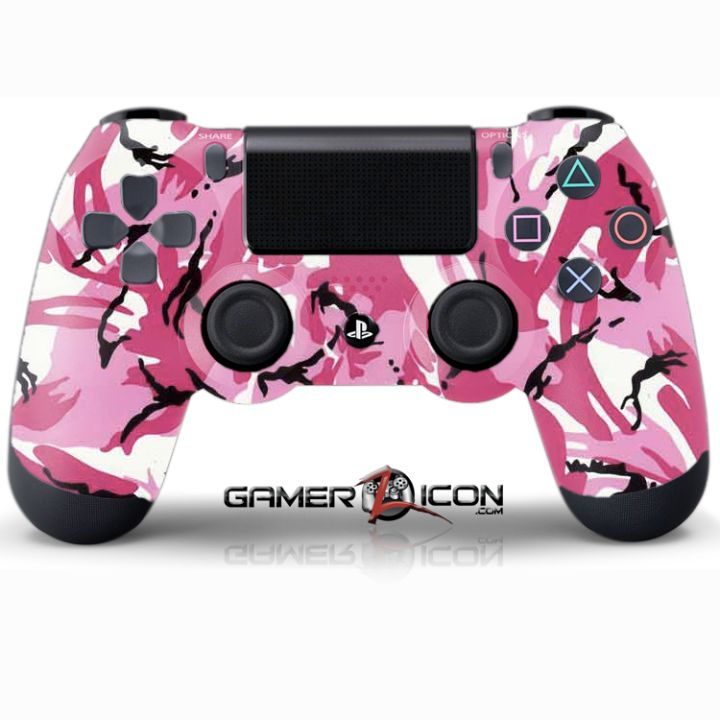 PS4 Pink Camo Controller