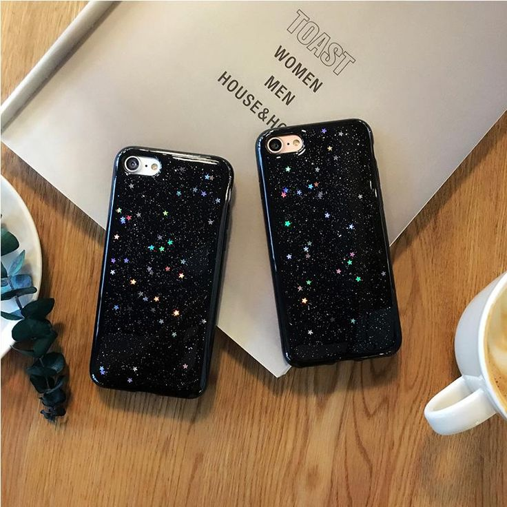Black Glitter Case for iPhone | ✨The Toasted Coconut