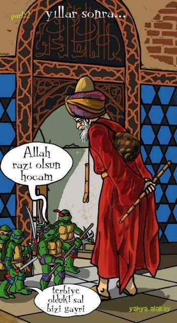 - Allah razı olsun hocam. + Terbiye olduk! sal bizi gayri... #karikatür #mizah #matrak #komik #espri