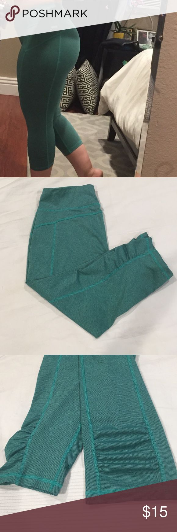 Gym leggings Solid green gym leggings, with secret pocket inside on the back, and hidden draw strings inside on the front, for your running support. Danskin Pants Leggings
